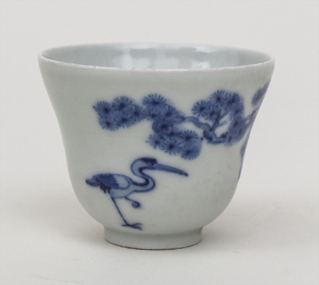 Koppchen mit Blaumalerei / A small cup with blue