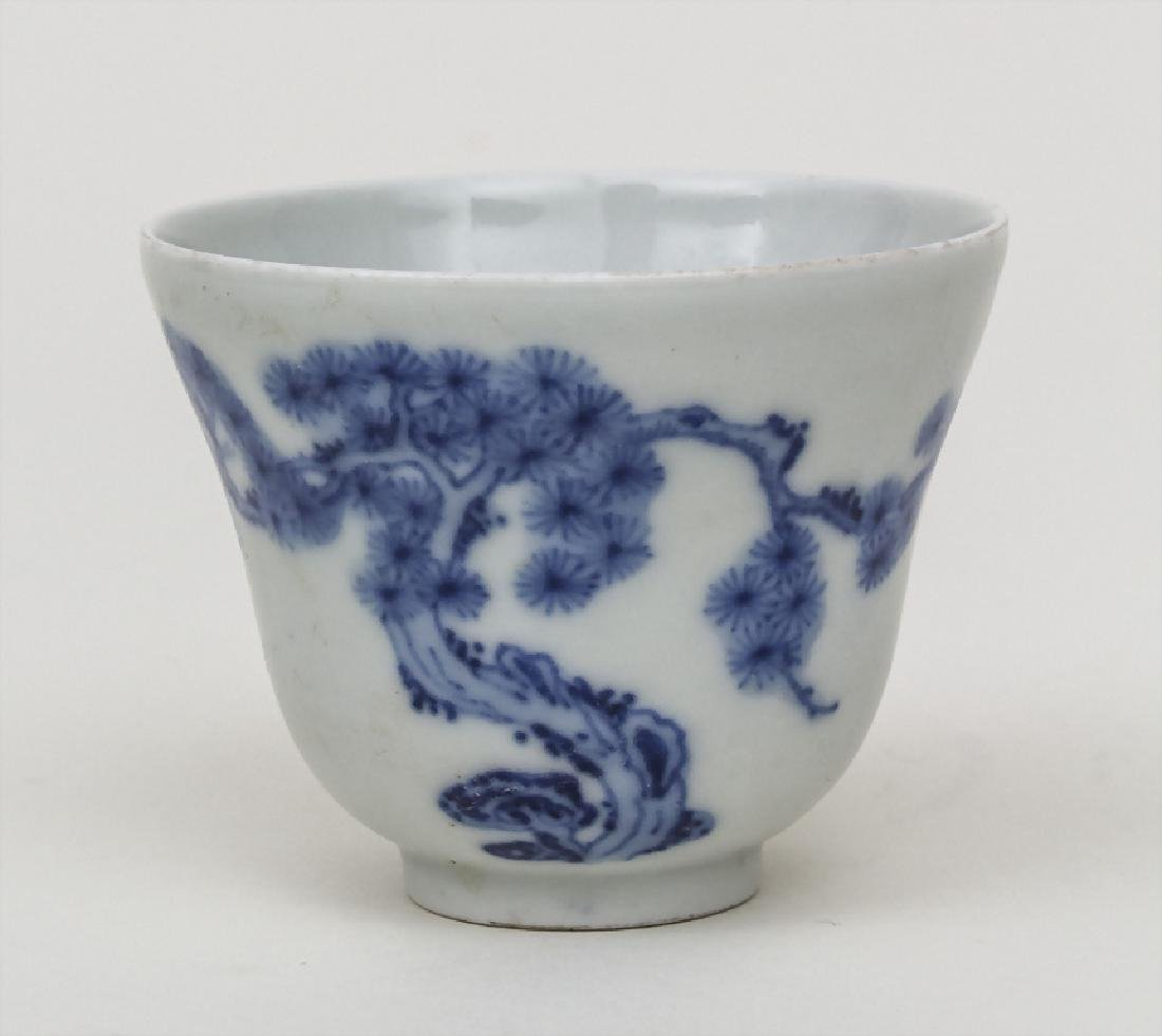 Koppchen mit Blaumalerei / A small cup with blue - 2