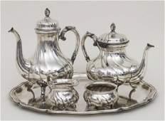 5-teiliger Kaffee- und Teekern / A silver set, Wilkens