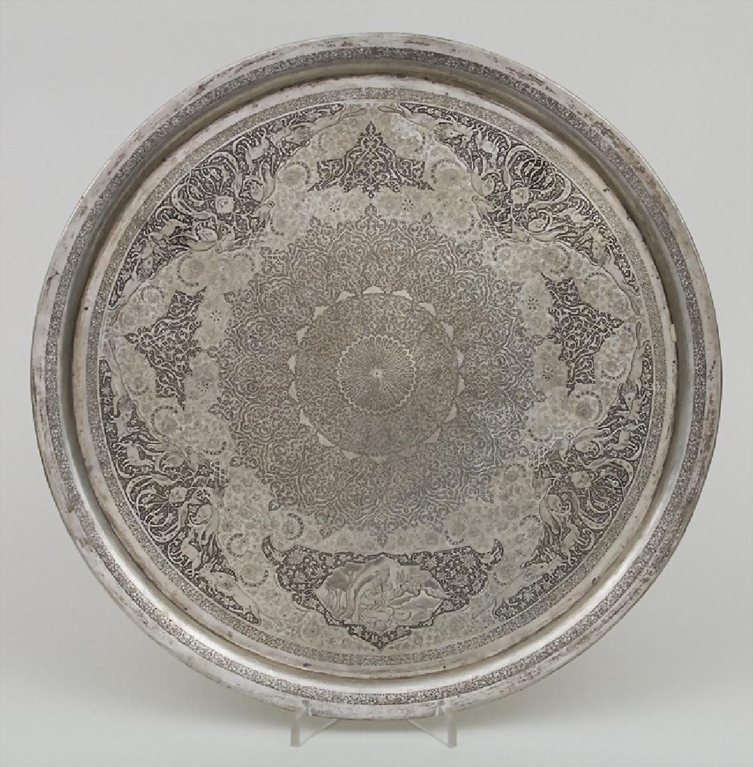 Tablett / A tray, Persien/Persia, 19 Jh. Material: