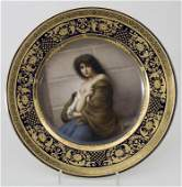 Historismus Teller 'Mignon' / A Historism plate,