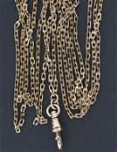 TaschenuhrKette  A 14 kt gold pocket watch chain um