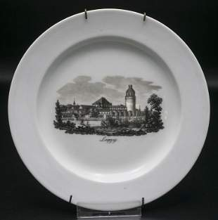 Ansichtenteller 'Leipzig' / A plate with a view of