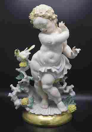 Art Déco Figur 'Frühlingsbotschaft' / Art Déco figure