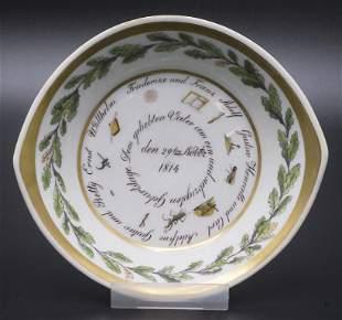 Empire Schale / An Empire bowl, Meissen, 1814