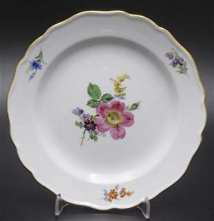 Teller mit Heckenrose / A plate with a wild rose,