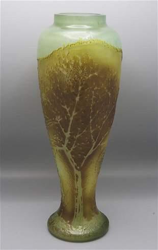 Jugendstil Ziervase / An Art Nouveau decorative glass