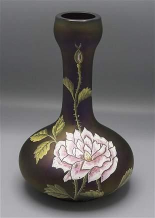 Jugendstil Vase / An Art Nouveau glass vase, Ferdinand