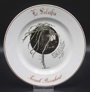 Künstlerteller 'Le Salsifis - Sarah Bernhardt' / An