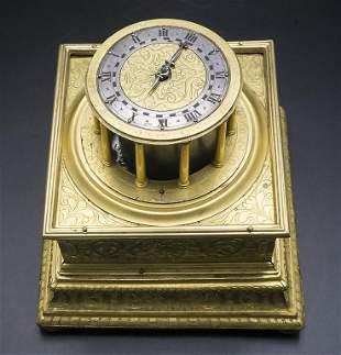 Tischuhr / A table clock, süddeutsch, um 1620  Gehäuse: