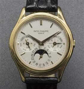 Armbanduhr, Automatik mit ewigem Kalender / A men's