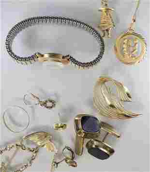 Konvolut Goldschmuck / A set of gold jewellery