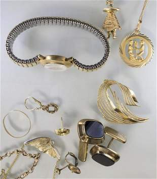 Konvolut Goldschmuck / A set of gold jewellery