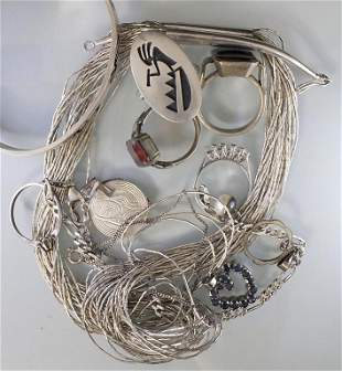 Konvolut Silberschmuck / A set of silver jewellery