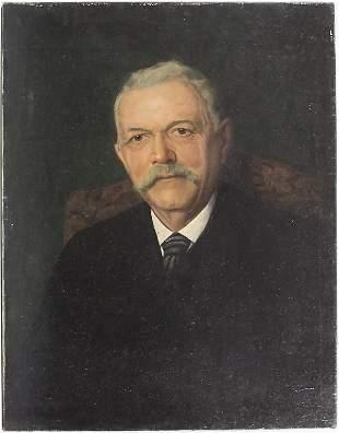 Künstler der Jahrhundertwende, 'Mann mit Schnurrbart' /