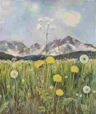 Willy Schüler, 'Blumenwiese im Gebirge' / 'Flower