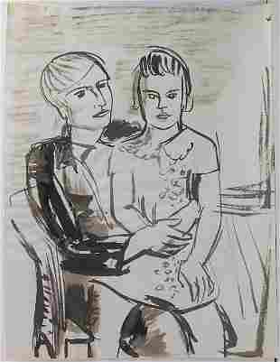 Erich Hartmann (1886-1974), 'Mann mit Mädchen auf dem