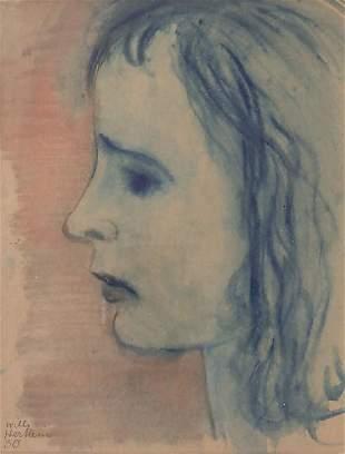 Willi Hertlein (1908-1968), 'Frauenporträt im