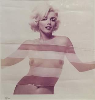 Bert Stern (1929-2013), 'Marilyn with striped scarf',