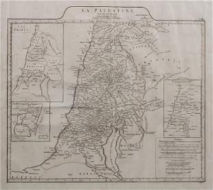 Landkarte, 'La Palestine' (Palästina) VIII' / A map of