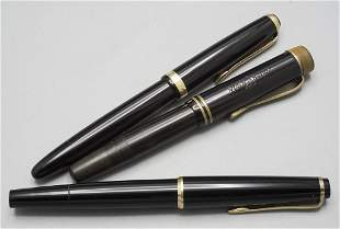 Drei Füllfederhalter / Three fountain pens, 20. Jh.