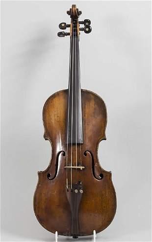 Violine / A violin, wohl Italien, um 1800  Geige: 4/4