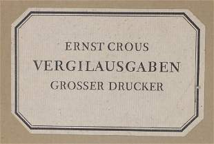 Ernst Crous: 'Vergil. Ausgaben großer Drucker', Berlin,