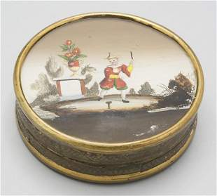 Dose mit Miniatur/ A box with a miniature painting on
