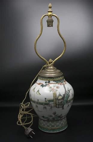 Ziervase, bzw. Lampenfuß / A decorative porcelain vase