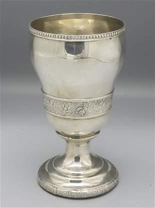 Großer Kelch / A silver goblet, um 1800  Material: