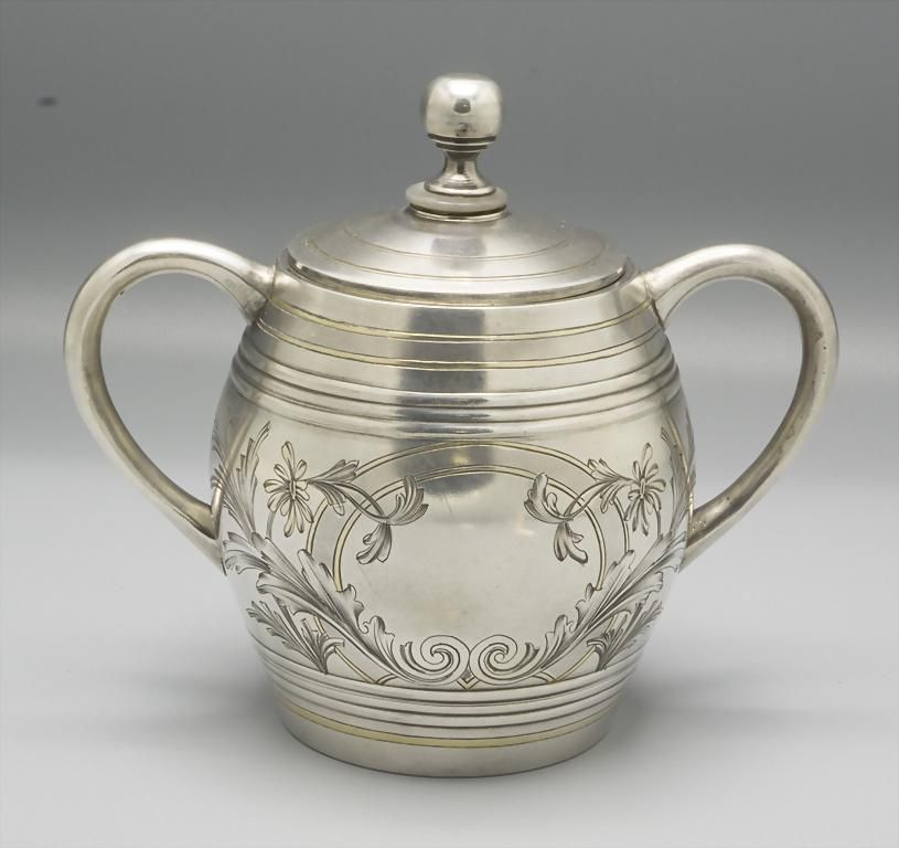 Deckeldose / A covered silver bowl, Ivan Khlebnikov,