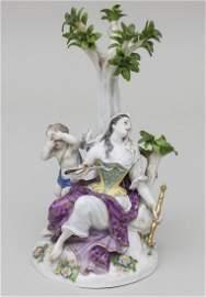 Figurengruppe Melpomene mit Amorette/Porcelain Group,