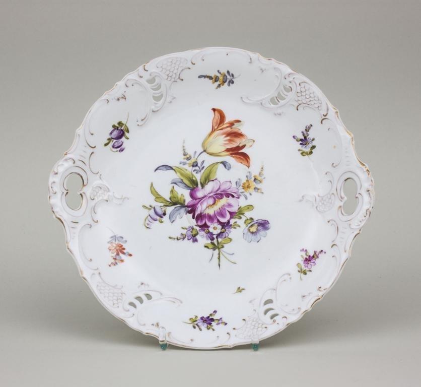 Gebckteller/ Plate For Pastries, Nymphenburg, Ende 19.