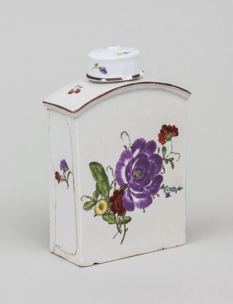 Teedose/ Porcelain Tea Box, wohl deutsch, 2. Hälfte 18.