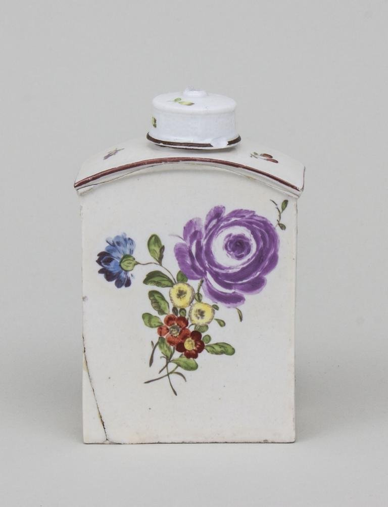 Teedose/ Porcelain Tea Box, wohl deutsch, 2. Hälfte 18. - 2