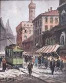 Guglielmo de Giorgio (Neapel 1934), Straßenansicht von
