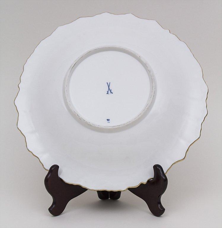 Runde Prunkschale / Round Platter, Meissen, Ende 19. - 2