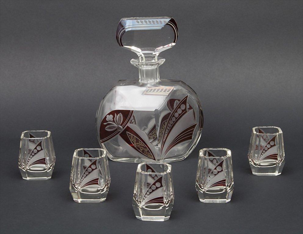 Art Deco Likörset / Liqueur Set, Böhmen/Bohemia, 1920