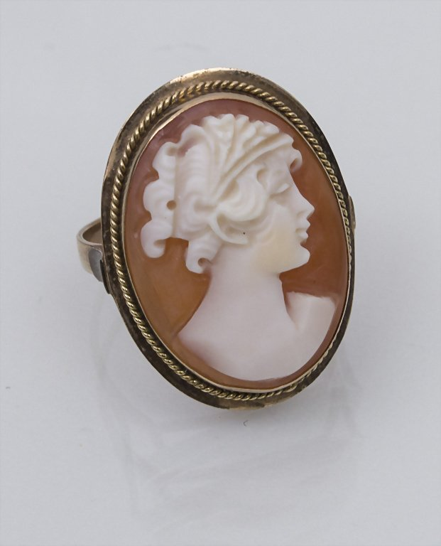 Damenring mit Gemme / Ladies Gem Ring Material: Rotgold