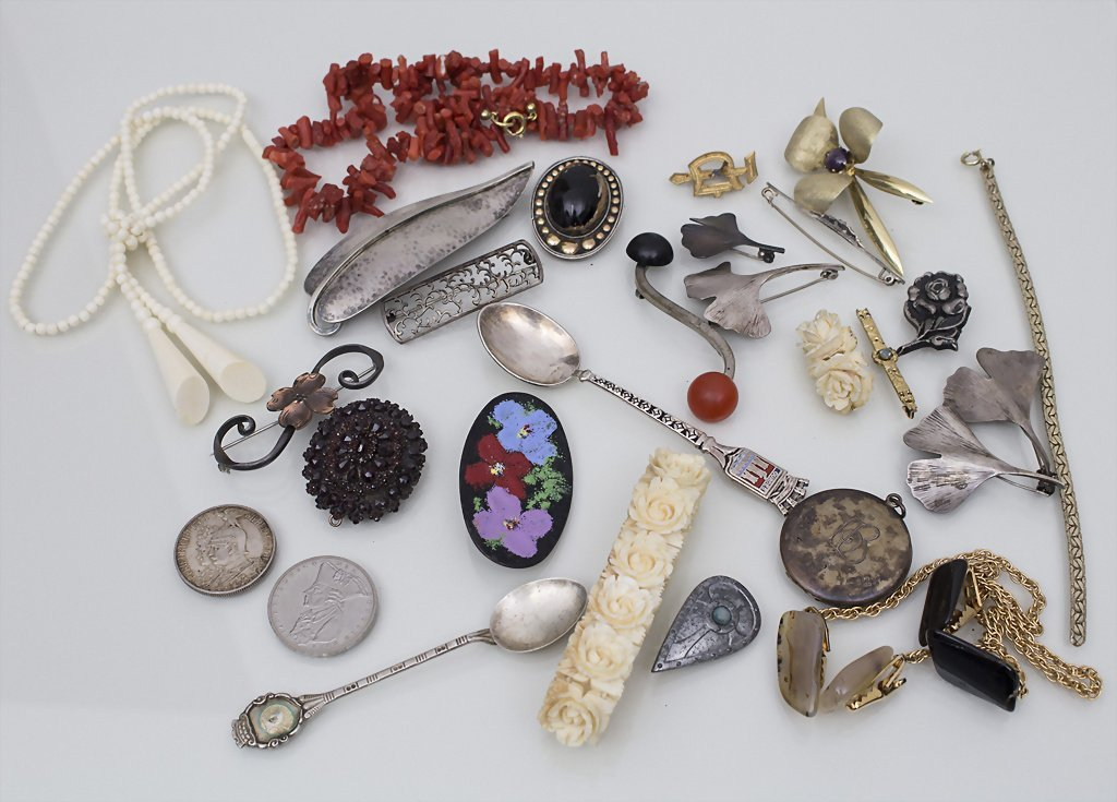 Lot Schmuck, Silber u. a. / Bijouterie, silver and more