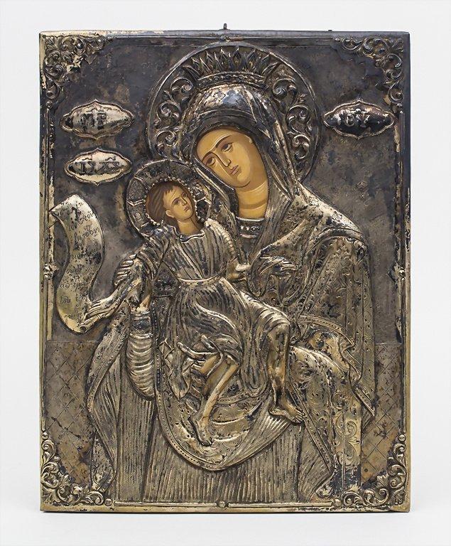 Griechisch-orthodoxe Gottesmutter mit Kind Ikone mit