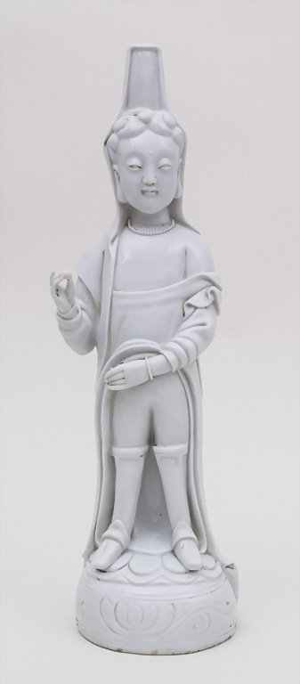 Blanc de Chine Buddha, China, 18./19. Jh. Material: