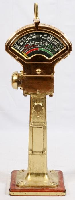 BRASS SHIP'S DOCKING TELEGRAPH