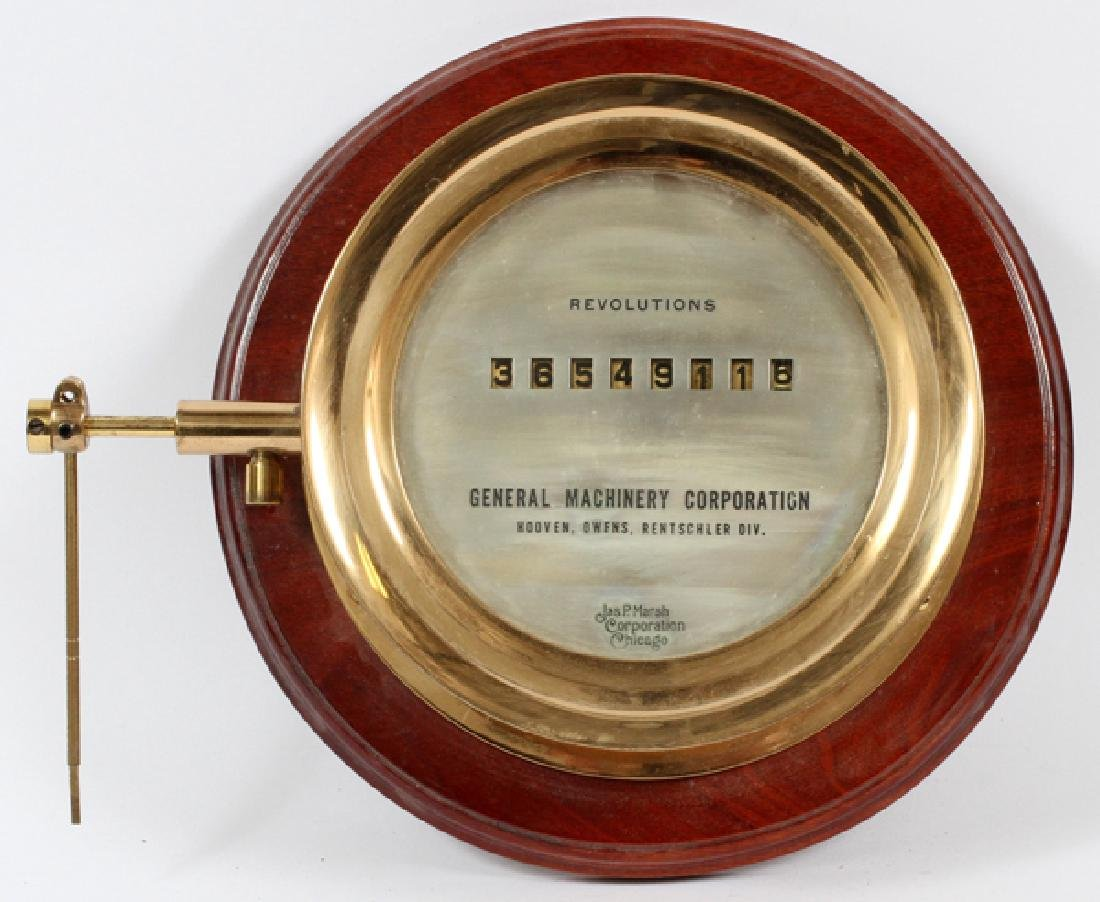 GENERAL MACHINERY CORP. REVOLUTION COUNTER C1920