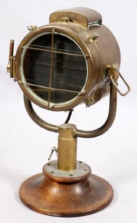 BRASS SHIP SIGNAL LIGHT