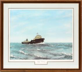 JIM CLARY PENCIL SIGNED COLOR PRINT