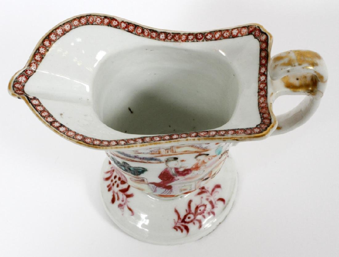 CHINESE EXPORT PORCELAIN HELMUT SHAPED CREAMER - 4