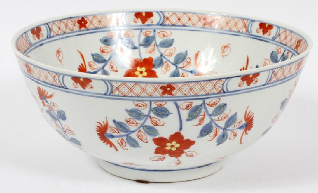 CHINESE HAND PAINTED FLORAL PORCELAIN OPEN BOWL
