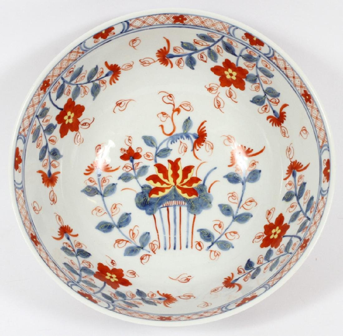 CHINESE HAND PAINTED FLORAL PORCELAIN OPEN BOWL - 2