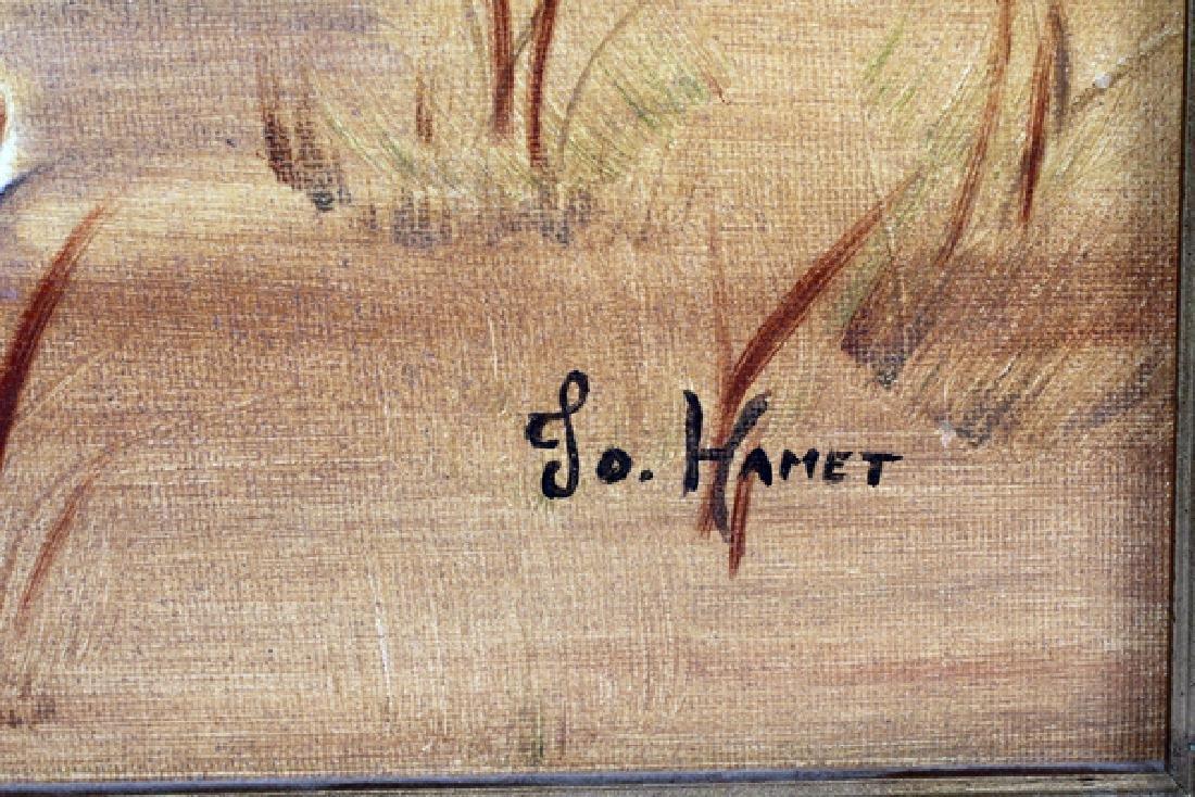 JO HAMET OIL ON ARTIST BOARD - 2